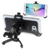 utángyártott Gépkocsi / autó tartó (szellőzőre rögzíthető, 360°-ban forgatható) FEKETE [Samsung Galaxy S6 (SM-G920), Galaxy S6 EDGE (SM-G925F)]