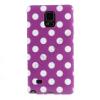 utángyártott Telefonvédő gumi / szilikon (fehér pöttyös) LILA [Samsung Galaxy Note 4. (SM-N910C)]