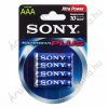 Sony Plus AAA LR03 1,5V AM4 Alkáli Elem (4 db)