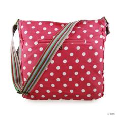 L1104D2 - Miss Lulu London szögletes táska Polka Dot Plum