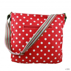 L1104D2 - Miss Lulu London szögletes táska Polka Dot piros