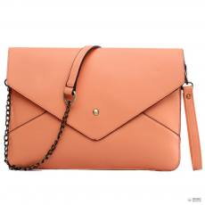 L1507 - Miss Lulu London Envelope Táska Clutch táska Coral