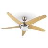 Klarstein Bolero, 55W, mennyezeti ventilátor lámpával, 134cm, juharfa karok, távirányító