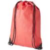 CENTRIX Evergreen nemszőtt hátizsák-tornazsák, piros (Evergreen nemszőtt hátizsák-tornazsák, húzózsinórral)