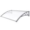 TECTAK Védőtető polikarbonát 300x100 szürke keret áttetsző fehér tető például bejárati ajtó vagy ablakok főlé