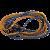 HOMASITA Gumipók 2x80cm, 8 mm átmérõ, fém kampókkal