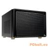 """Kolink Satelite mITX Black Black,4x3,5"""",ITX,Mini-ITX,Audio,Táp nélkül,260x190x280mm,Ventillátor:12cm,2xUSB3.0"""