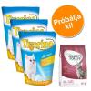 Tigerino Próbacsomag: 3 x 5 l Tigerino alom + 400 g Concept for Life - Tigerino + Sensitive Cats