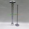 SOLÁR KERTI HŐMÉRŐ OSZLOP - led megvilágítással 60 cm + 50 cm magas leszúrható hőmérő