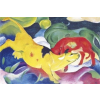 Fridolin Mini művész puzzle 150 Franz Marc: Cows - Yellow, Red, Green (36)