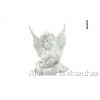 Ülő angyal könyvvel fehér 12cm többféle