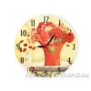 Falióra piros rózsás 34cm