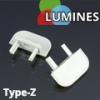 Lumines Alu profil eloxált (Type-Z) végzáró (fehér)