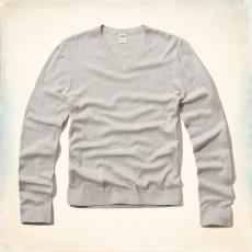 Hollister V nyakú pulóver- szürke