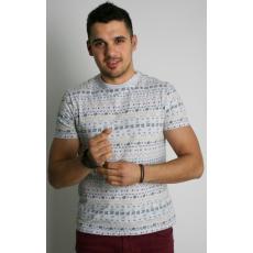 S méret Design férfi póló- mintás