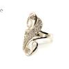Köves hosszúkás női ezüst gyűrű