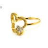 Köves pillangós női arany gyűrű