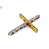 Köves bicolor arany kereszt medál