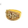 Köves áttört bicolor női arany gyűrű