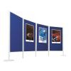 Legaline professional kétoldalú filc pinboard, kék filccel, 90x150 cm