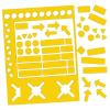 Válogatott mágneses szimbólumok, 10 mm, citromsárga