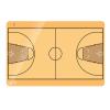 Kosárlabda taktikai tábla, 40x60 cm
