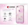 Comma Apple iPhone 6/6S hátlap Swarovski kristály díszitéssel - Comma Crystal Flora 360 - rose pink