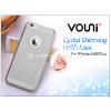 Vouni Apple iPhone 6 Plus/6S Plus szilikon hátlap - Vouni Crystal Shinning with lace - smoky black