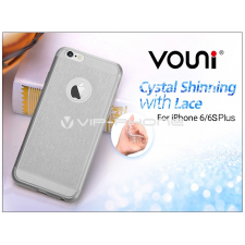Vouni Apple iPhone 6 Plus/6S Plus szilikon hátlap - Vouni Crystal Shinning with lace - smoky black tok és táska