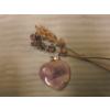 Ametiszt kis szív medál ( )