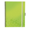 Leitz Notebook: with 3 \Be mobile\ bookmarks Leitz WOW A4  graph paper  green 4002432108541