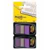3M-POST-IT Filing Index Tabs POST-IT® (680-P2EU)  PP  25x43mm  2x50 tabs  purplish red 051141920559