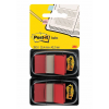 3M-POST-IT Filing Index Tabs POST-IT® (680-R2EU)  PP  25x43mm  2x50 tabs  red 051141919638
