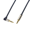 LogiLink Audio Cable 3.5 Stereo M/M 90° angled, 0.75 m, blue