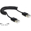 DELOCK Cable USB 2.0-A male / male coiled cable (83239)