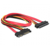 DELOCK Cable SATA 22pin Extension (adat+táp) 50cm (84361)