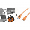 Tether Tools Starter Tethering Kit w/ USB 3.0 Micro-B Cable 15 ORG
