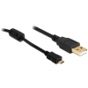 DELOCK Cable USB 2.0 -A male -> USB micro B male 1m (82299)