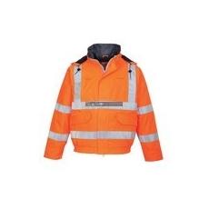 Portwest S773 BizFlame Antisztatikus, lángálló, jól láthatósági bomber kabát (narancs)