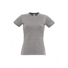 B&C B&C r. ujjú Női pamut póló, sport grey