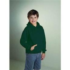 GILDAN Gildan kapucnis gyerekpulóver, sötétzöld