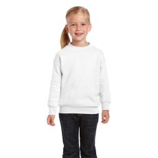 GILDAN Gildan kereknyakú gyerekpulóver, fehér