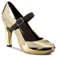 Félcipő UNITED NUDE - Lo Res Pump 100292221 Gold Chrome