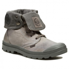 Bakancs PALLADIUM - Baggy Leather 02356023 Moss Gray/Metal