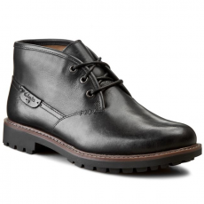 Bokacipő CLARKS - Montacute Duke 203510967 Black Leather