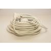 Somogyi 5fm-es hálózati hosszabbító fehér szinű NV2-5m-f, lengő hosszabbító