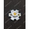 N/A 1W Power LED 4000K hűtőcsillagra szerelve 130 Lumen semleges fehér 2 év garancia