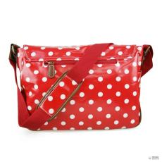 Miss Lulu London L1107D2 - Miss Lulu Oilcloth táska Polka Dot piros