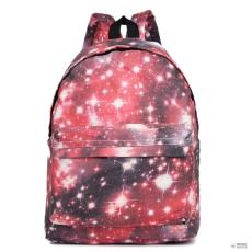 Miss Lulu London E1401U - Miss Lulu nagyméretű hátizsák táska Universe piros