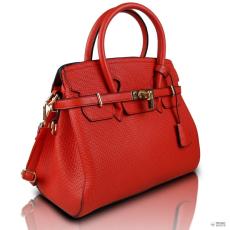 Miss Lulu London L1413 - Miss Lulu Padlock Boston kézi táska Plain piros
